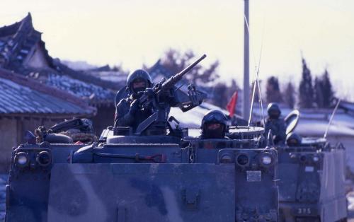 국산병기 화력시범  #284