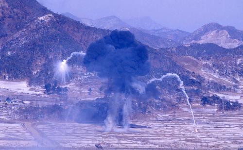 국산병기 화력시범  #303