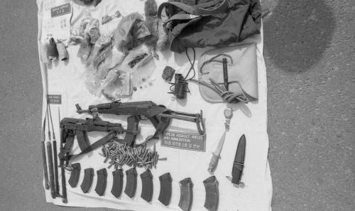 제400차 군사정전위원회의(무장간첩, 포항해상침투, 한강하류침투, 휴전선 침투) 노획 증거물 전시  #1799