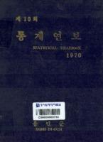 용인군 통계연보 1970년 제10회
