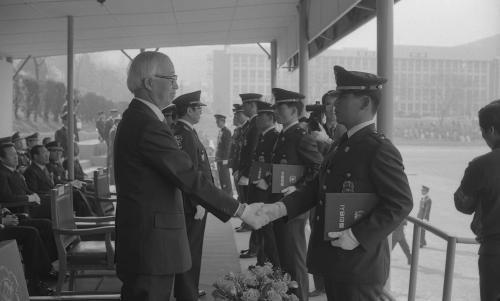 남덕우 국무총리 경찰대학 졸업식 참석  #11639