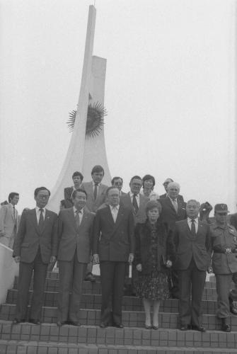 벨기에 수상 벨기에 참전 기념비 헌화  #46216