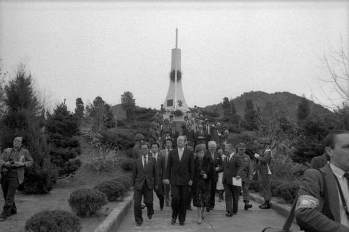 벨기에 수상 벨기에 참전 기념비 헌화  #46217