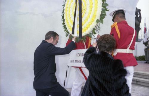 벨기에 수상 벨기에 참전기념비 헌화  #49090
