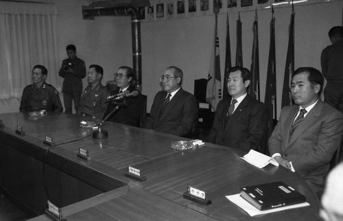 노신영 국무총리 및 국무위원 전방부대 시찰  #60819