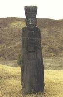 허목 묘지 문인석