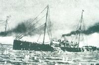 풍도해전 일본군의 포격을 받아 침몰하는 청의 고승호