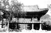 청풍 한벽루 전경:옛모습