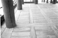 한벽루 상층부:바닥