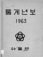 아동면 통계연보 1963년