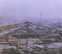 1981년 개청 당시 안양천변 철산동